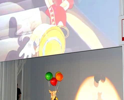 Luftballons als Zopfhalter
