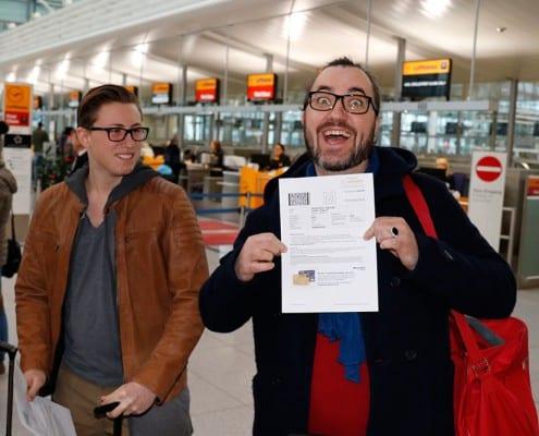 Check-in am Flughafen