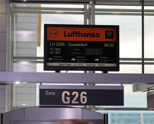 Gate 26 Lufthansa nach Düsseldorf