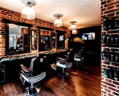 Silke Heide Barbershop, große Spiegel