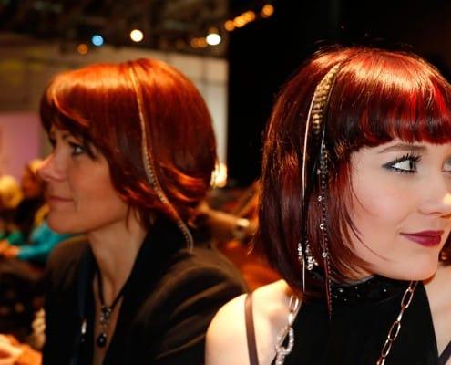 eingeflochtener Haarschmuck Damen
